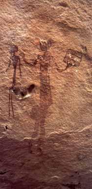 Наскальный рисунок людей-пчел (пещера на севере Южной Афр <!--